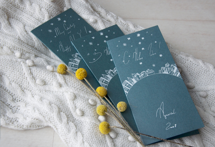 Christmas card and envelope for Aquaizol