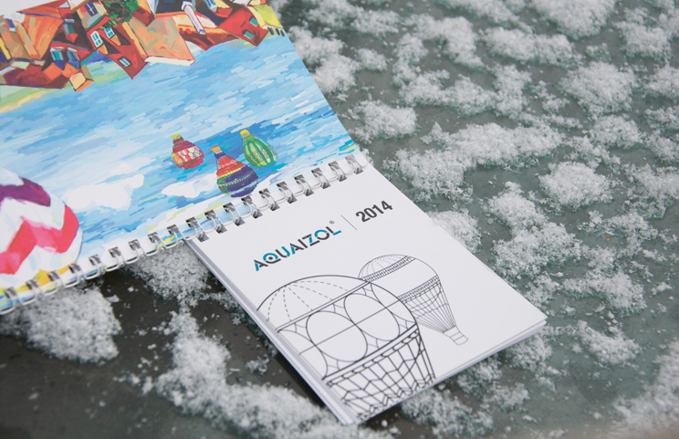 2014 desk calendar for Aquaizol factory