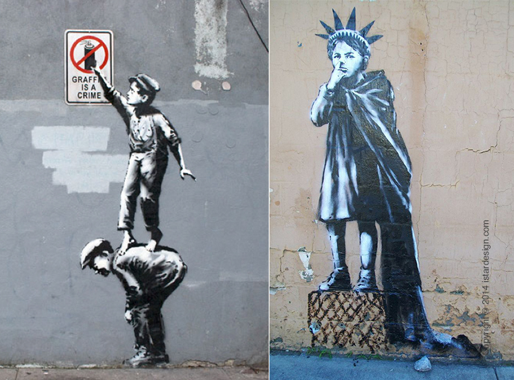 граффити художник Banksy on iStar Design Blog on www.istardesign.com