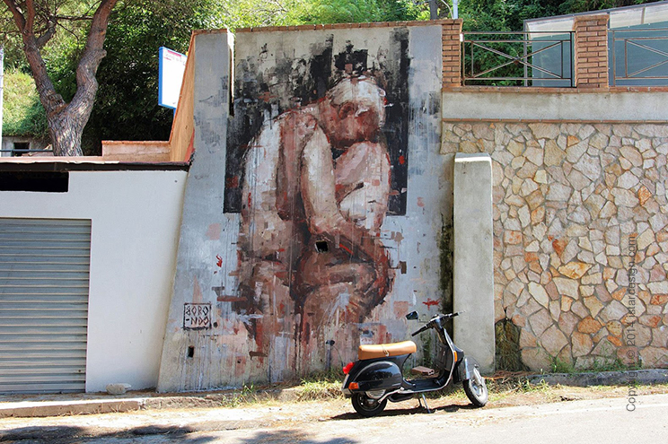 Академический стрит-арт Borondo on iStar Design Blog on www.istardesign.com