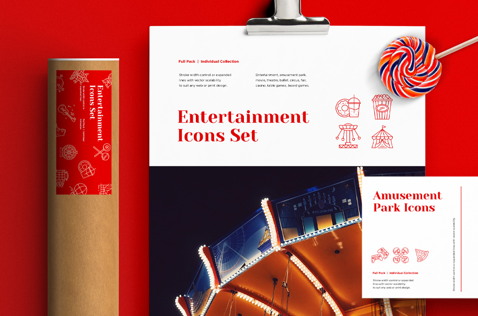 Entertainment Icons Set. Full Pack