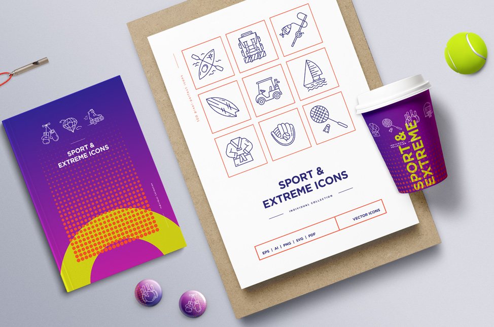Sport & Extreme Icons Set. Full Pack