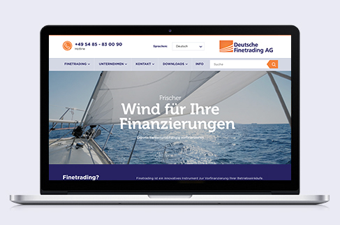 Website for Deutsche Finetrading AG