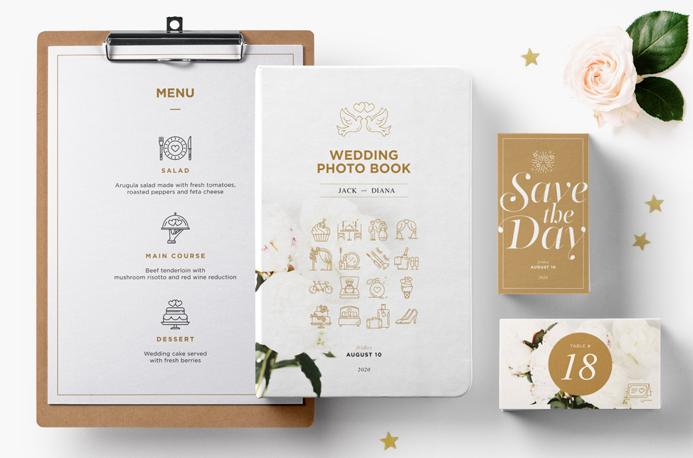 Wedding & Love Icons Set. Full Pack