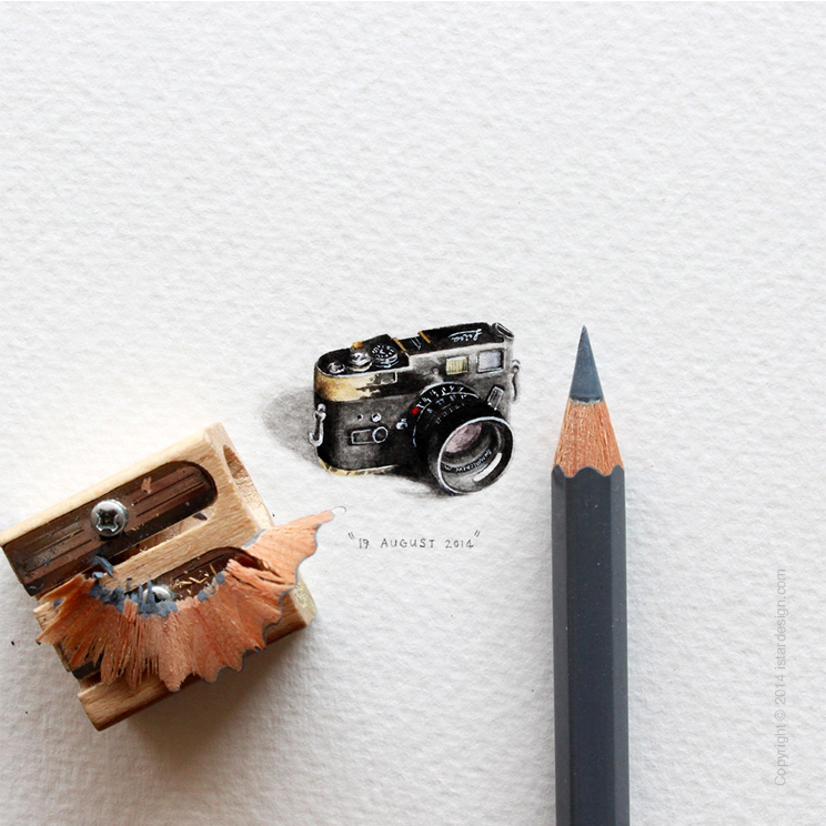 Миниатюрные иллюстрации Postcards for Ants on iStar Design Blog on www.istardesign.com