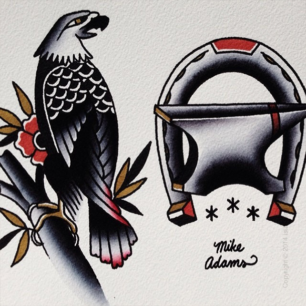 Old school tattoos от Майка Адамса on iStar Design Blog on www.istardesign.com