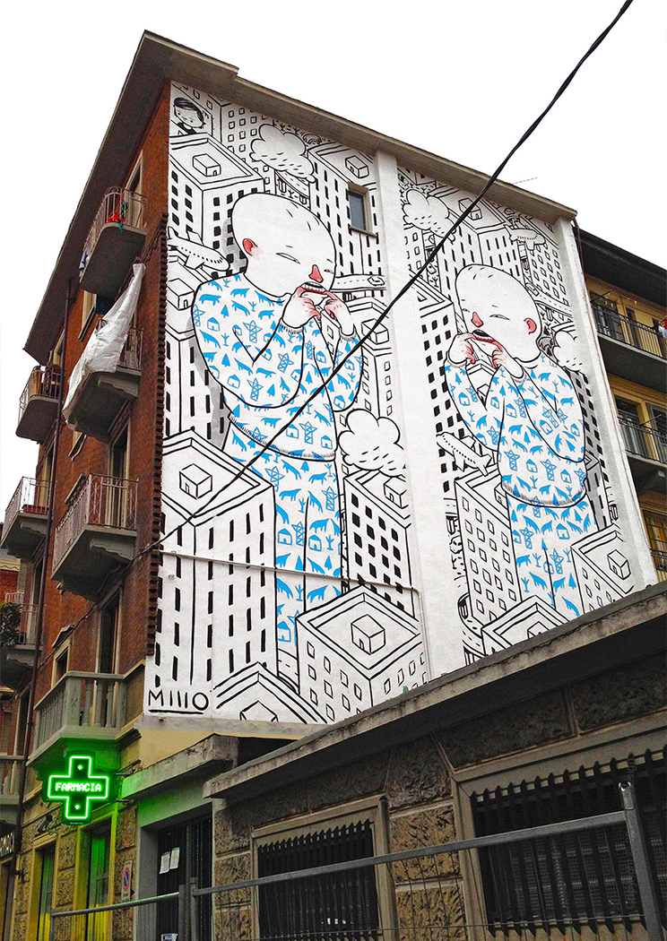 street art graffiti murals by Millo