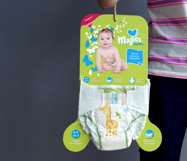 sample board diaper Magics Flexidry