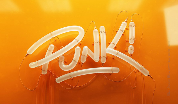 3d typography by Zigor Samaniego