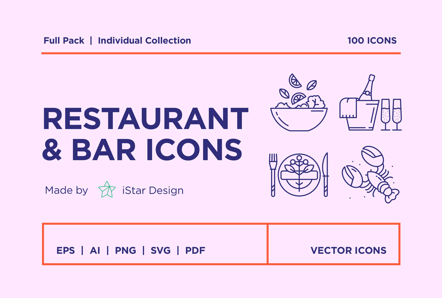 free download food and drinks icons set