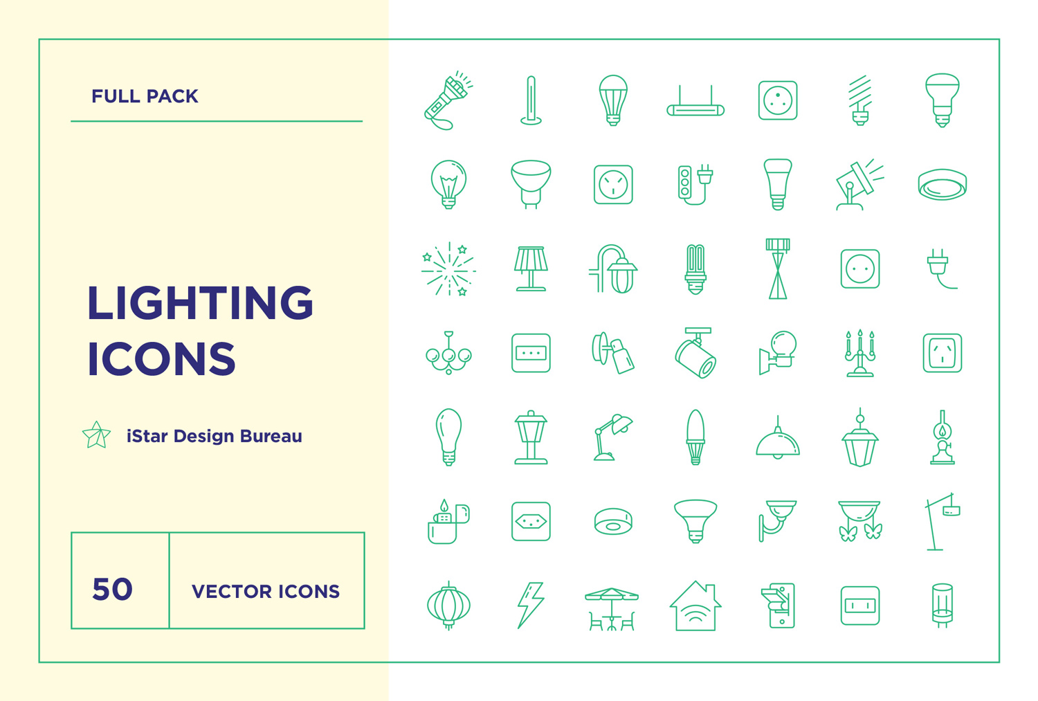 Lighting bulb icon set download