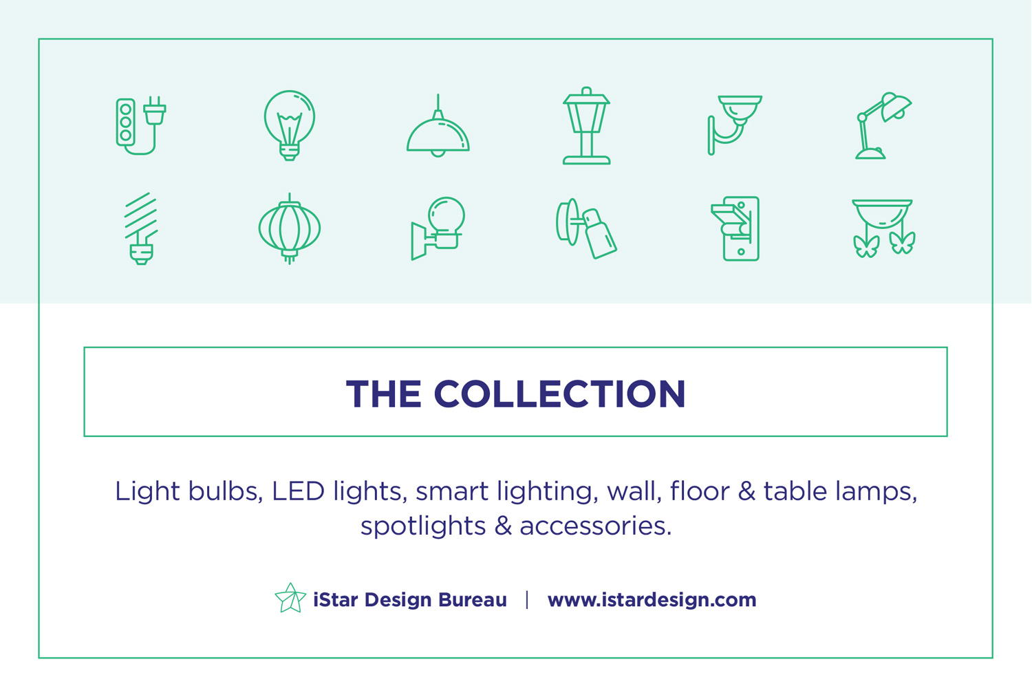 Free Lighting Line Icons Set