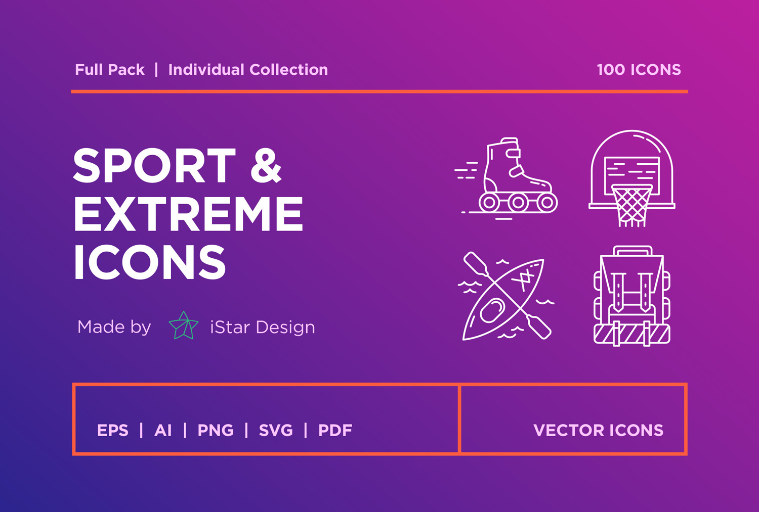 free Sport and Extreme Icons Set