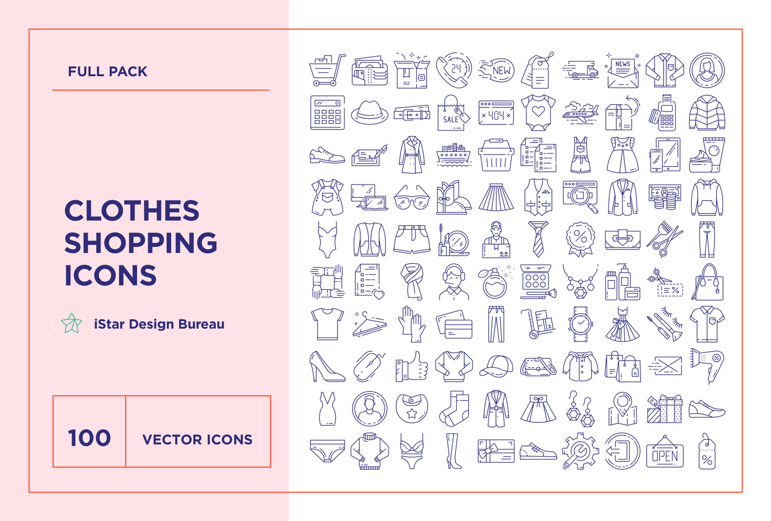free download clothes shopping icons set