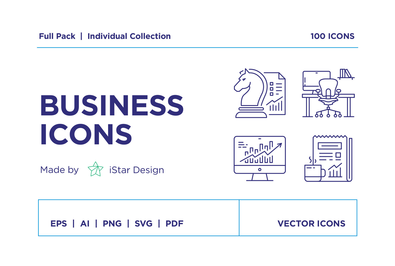 free Modern Business Icons Set
