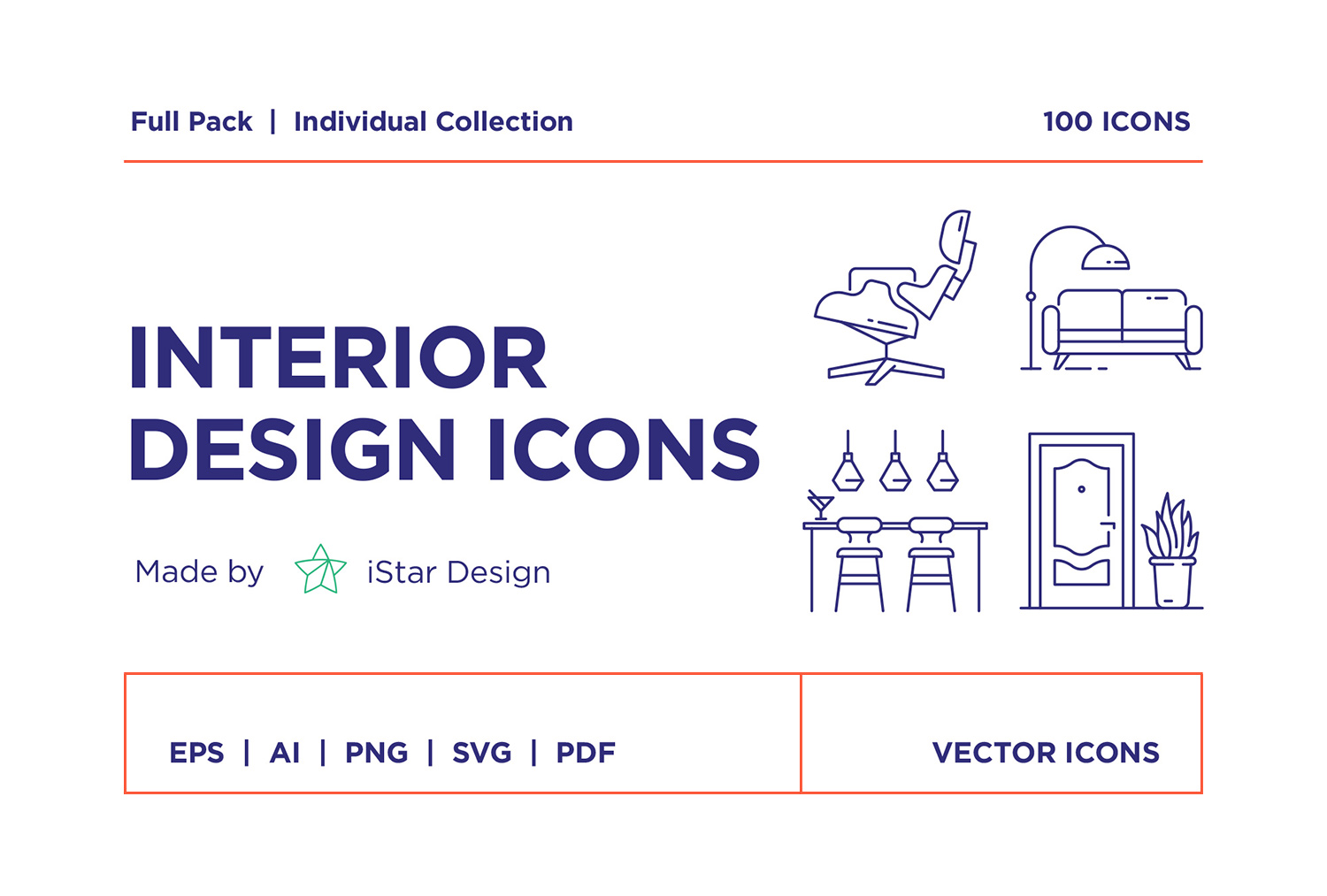 free interior design icon package