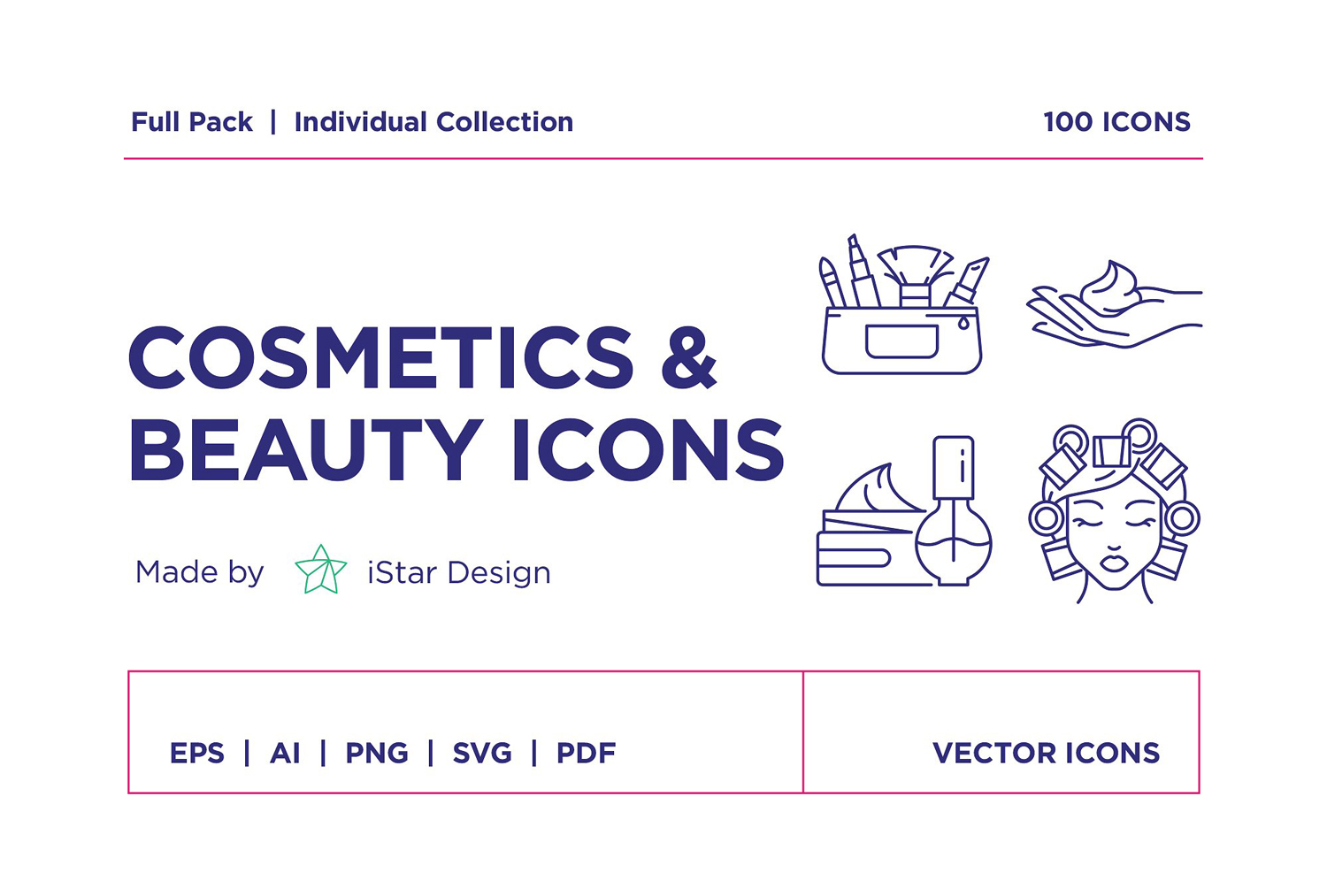 Cosmetics icon package