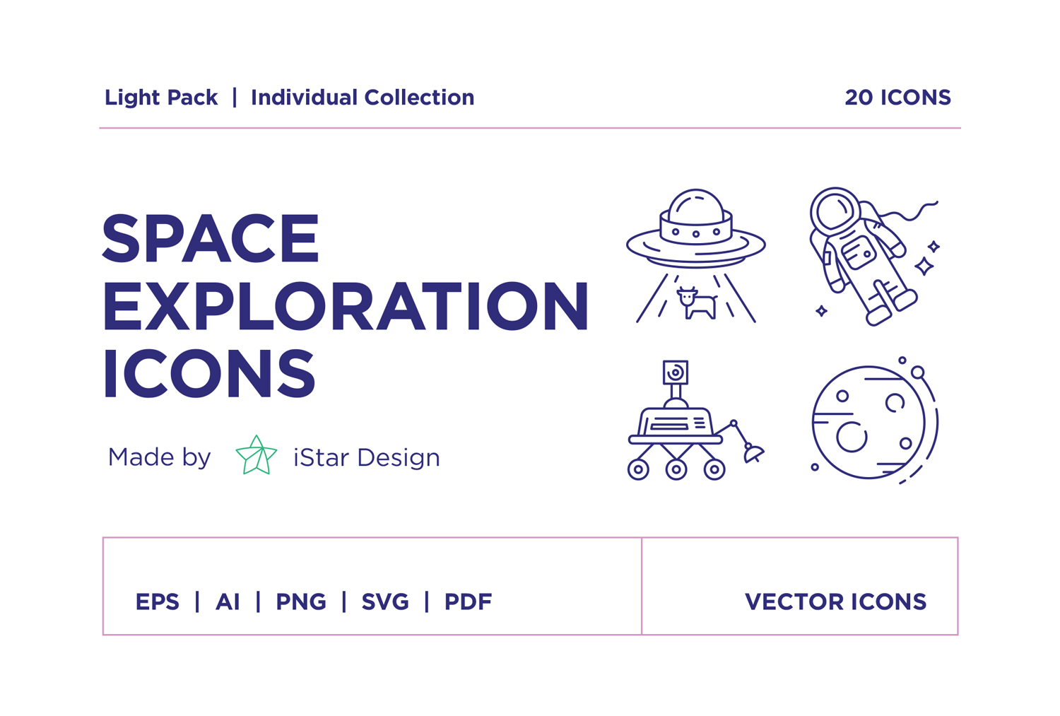 free Space Exploration Icons Set