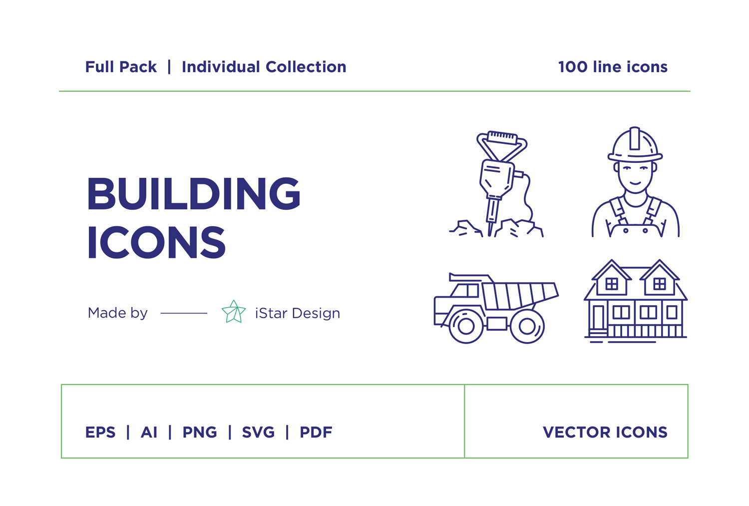 free download Building and Construction line icons