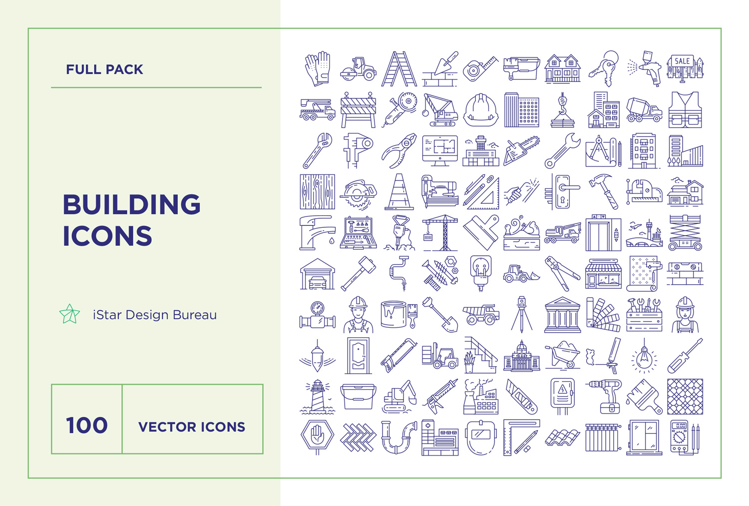 download Building and Construction Icons Set