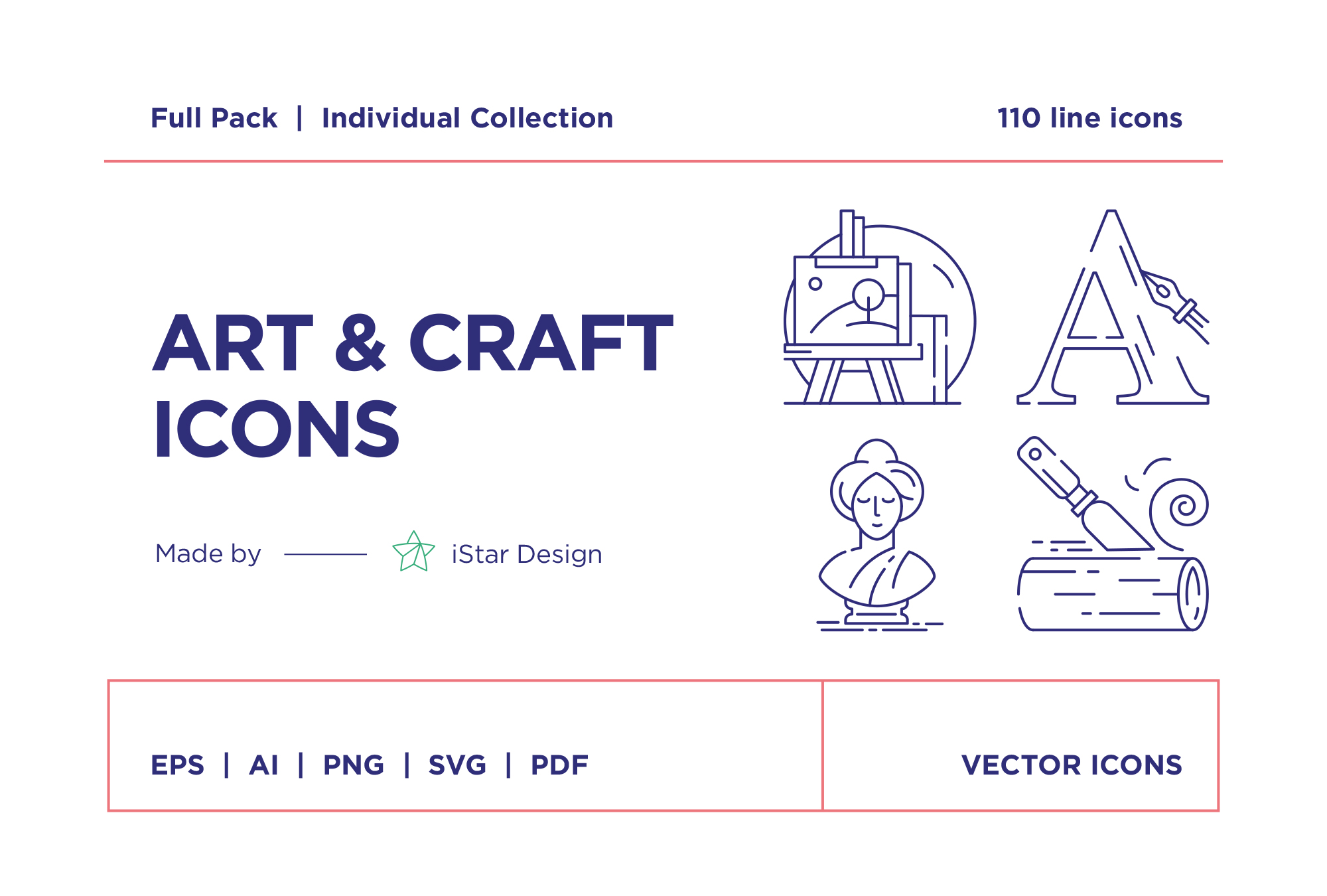 free download art craft line icons